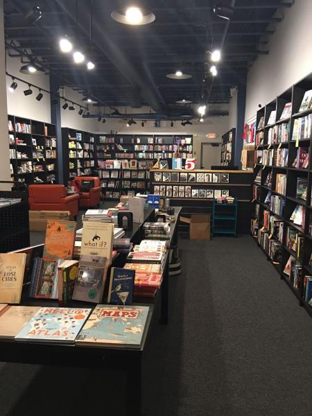 Interior of Word After Word Bookstore in Truckee, California