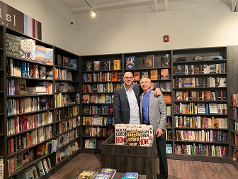 Author Harlan Coben and [words] Bookstore co-owner Jonah Zimiles.