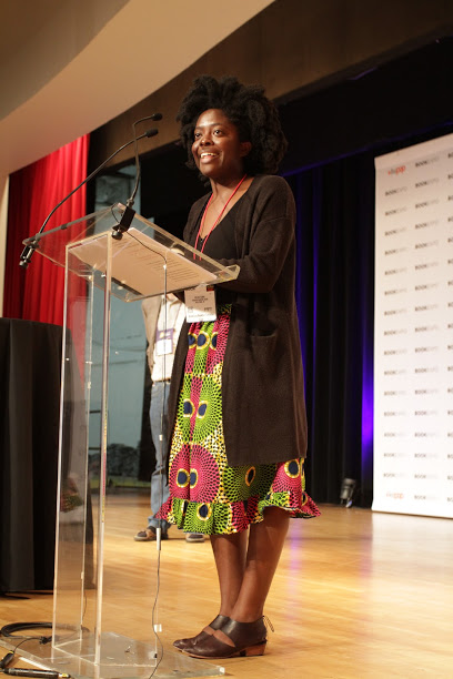 Indies Choice Debut of the Year winner Yaa Gyasi at the Celebration.