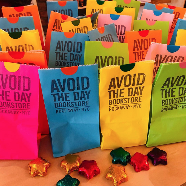 Small Business Saturday at Avoid the Day Bookstore in Rockaway Park, New York.