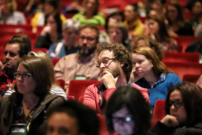 Booksellers filled the audience at the 2019 Winter Institute Town Hall.