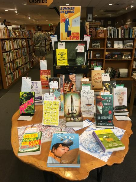 Summer reading display at Third Place Books in Seattle
