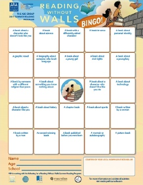 Reading Without Walls bingo card