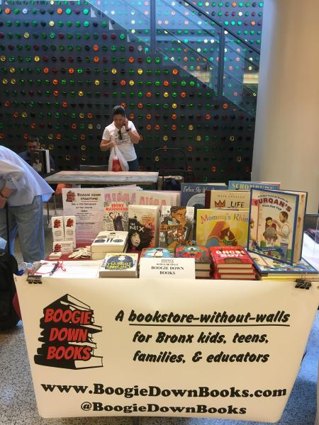 Boogie Down Books table