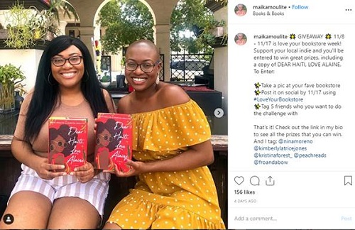 Two readers promoted Books & Books in Florida.