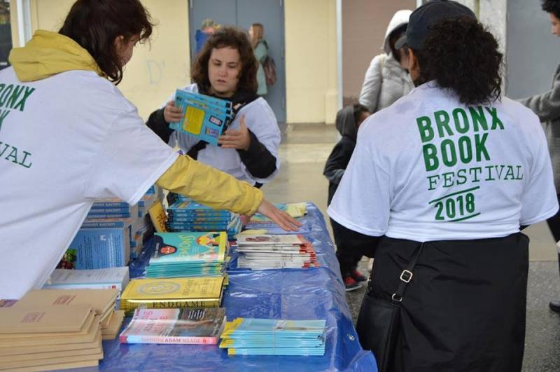 Bronx Book Festival volunteers work to keep the festival up and running. (BBF Facebook page)