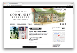 Community Bookstore's website