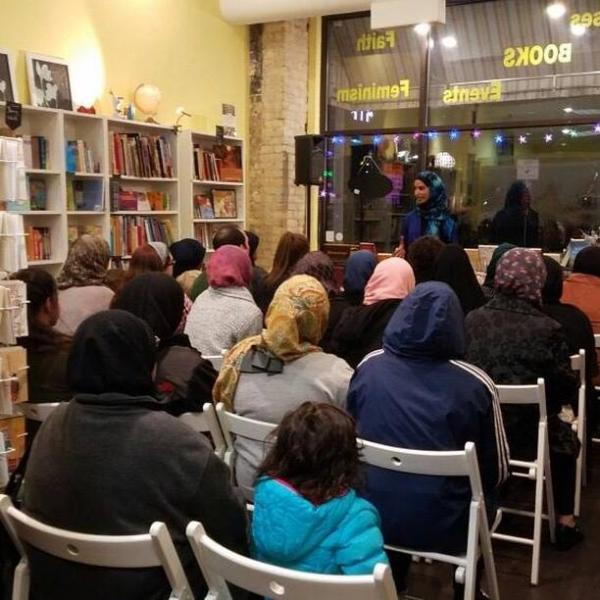A post-election discussion at Daybreak Press Global Bookshop and Gathering Place.