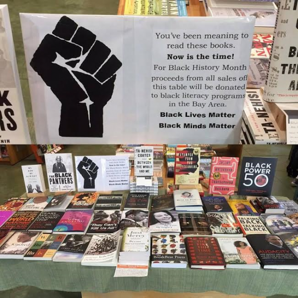 Black History Month display at DIESEL, A Bookstore in Oakland, California
