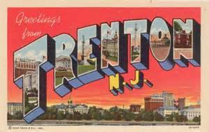 Greetings from Trenton postcard