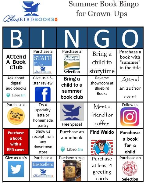 Bluebird Books Debuts Summer Book Bingo For Grown Ups American