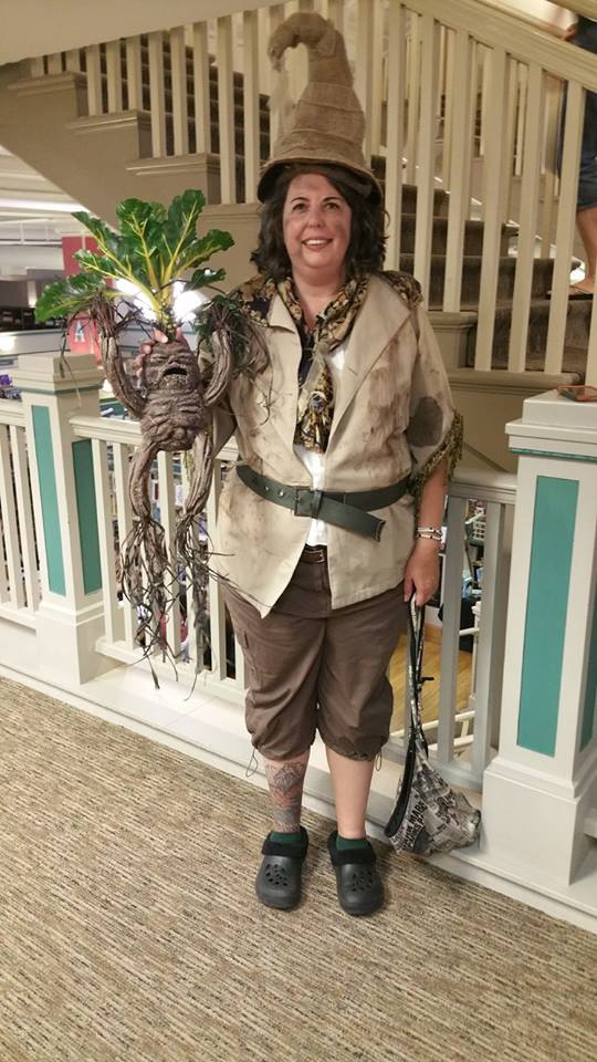 Harry Potter party guest with costume.