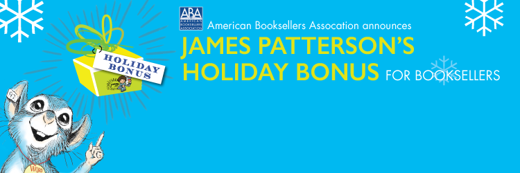 Last year, James Patterson rewarded 87 independent booksellers with $250,000 in holiday bonuses.  This year, he's giving away another $250,000. If you know a hardworking employee of an independent bookstore, nominate them today!