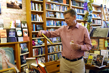 Governor Jim Hickenlooper visited Maria's Bookshop in Durango, Colorado, and other stores in the city's downtown were open for business.