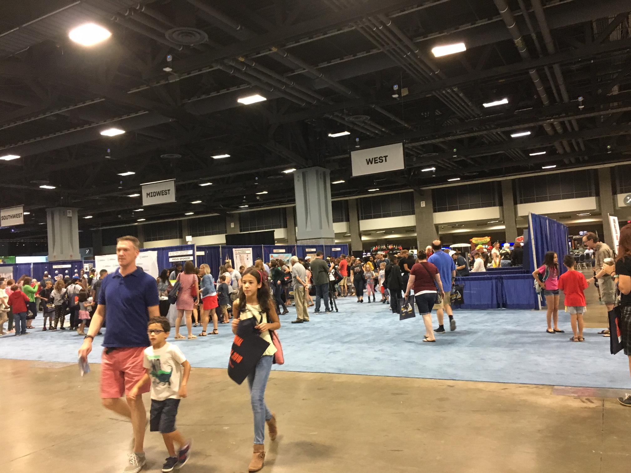 A view of the Walter E. Washington Convention Center floor