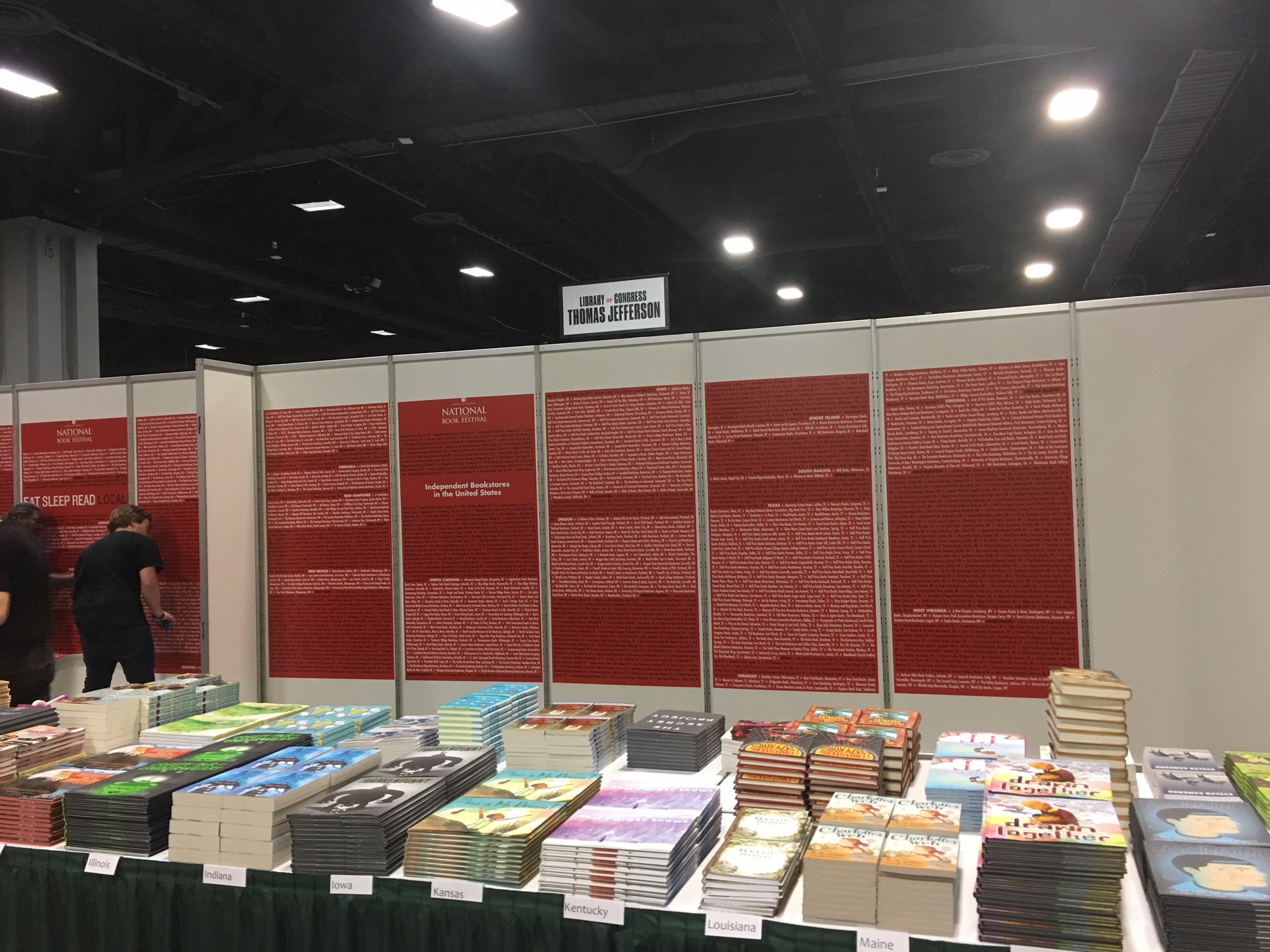 A display of books in the P&P sales area