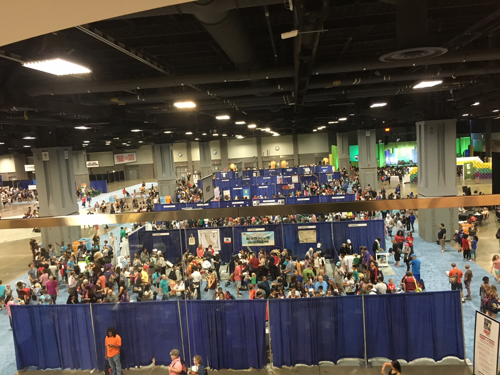 At least 200,000 book lovers attended the 2018 National Book Festival at the Walter E. Washington Convention Center.