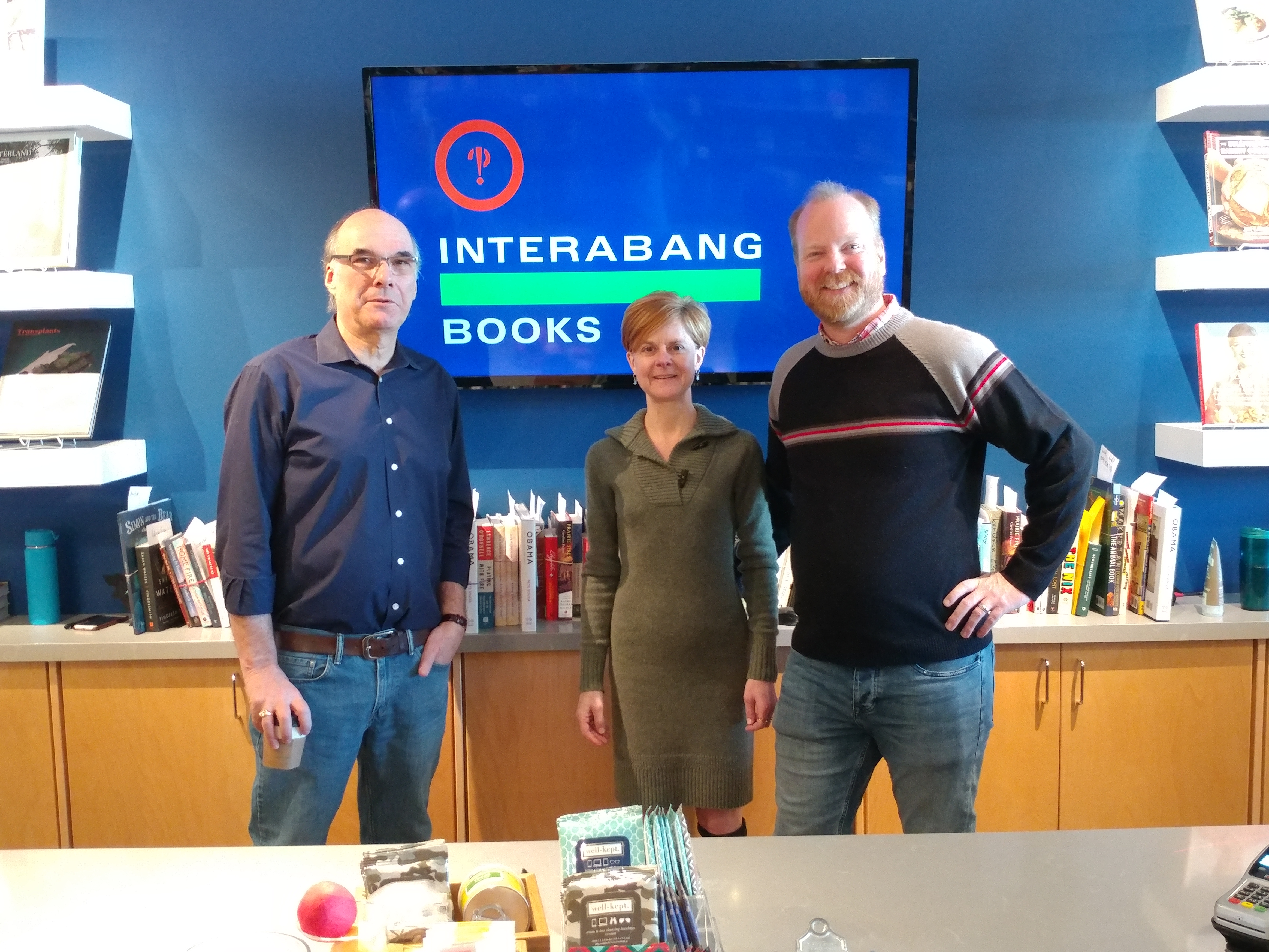 This holiday, ABA CEO Oren Teicher visited Interabang Books co-owners Lori Feathers and Jeremy Ellis.