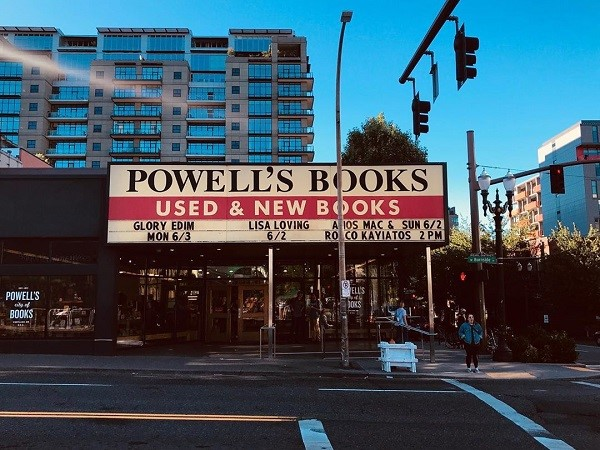 Powell's Books' storefront.