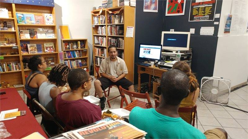 discussion group at Revolution Books