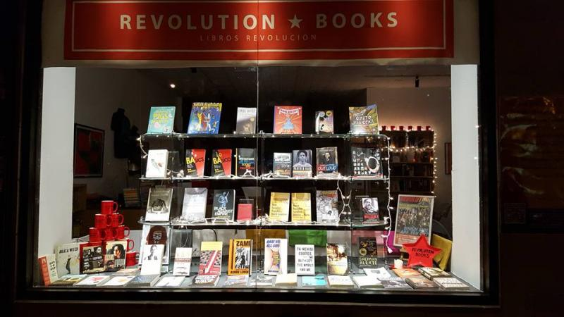 front window of Revolution Books