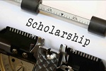 Scholarship on typewriter