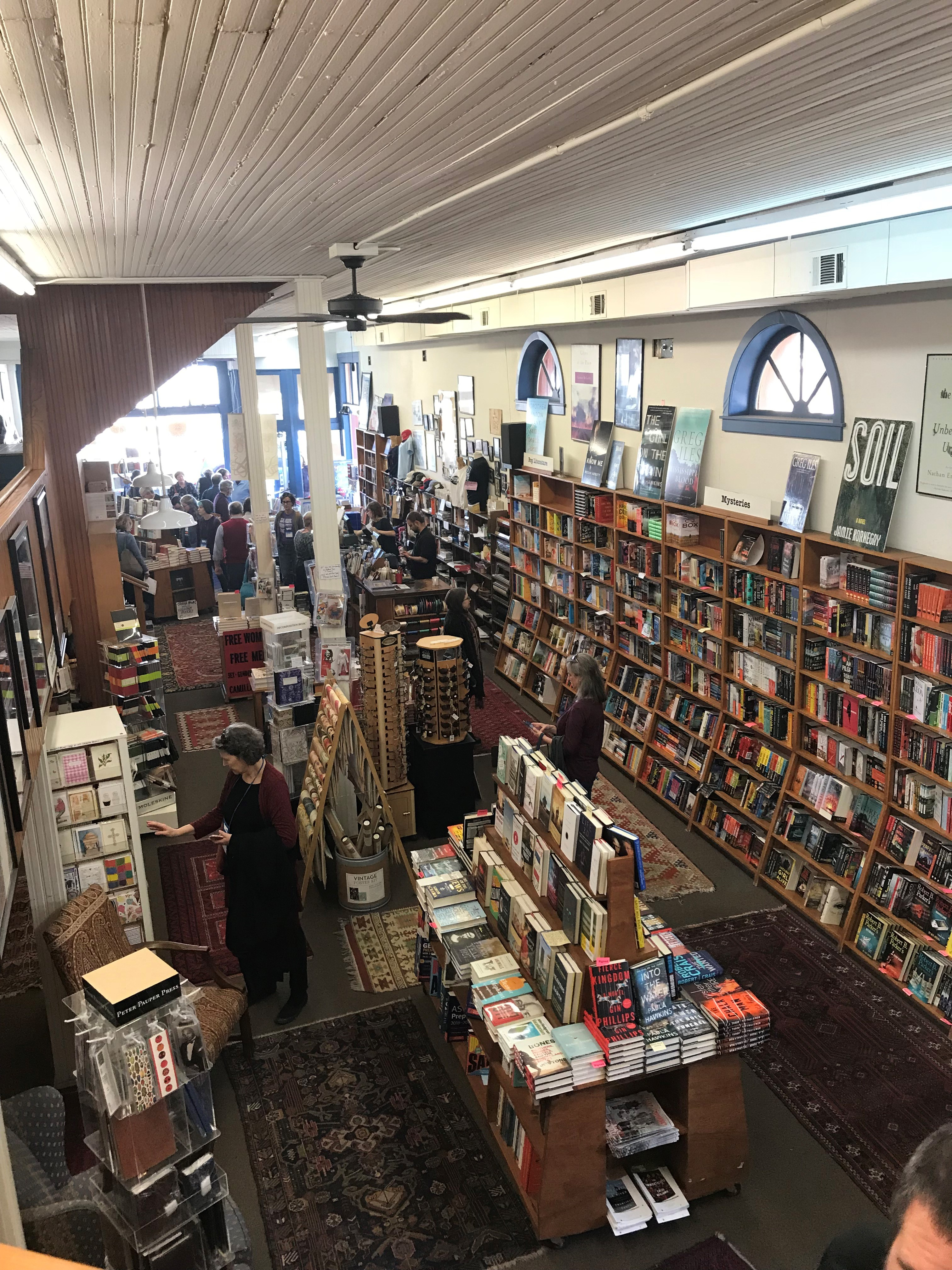 Square Books was a highlight of the Oxford, Mississippi, tour.
