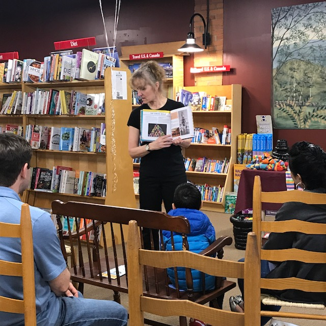 Circus DIY author Jackie Leigh Davis at The Toadstool Bookshop