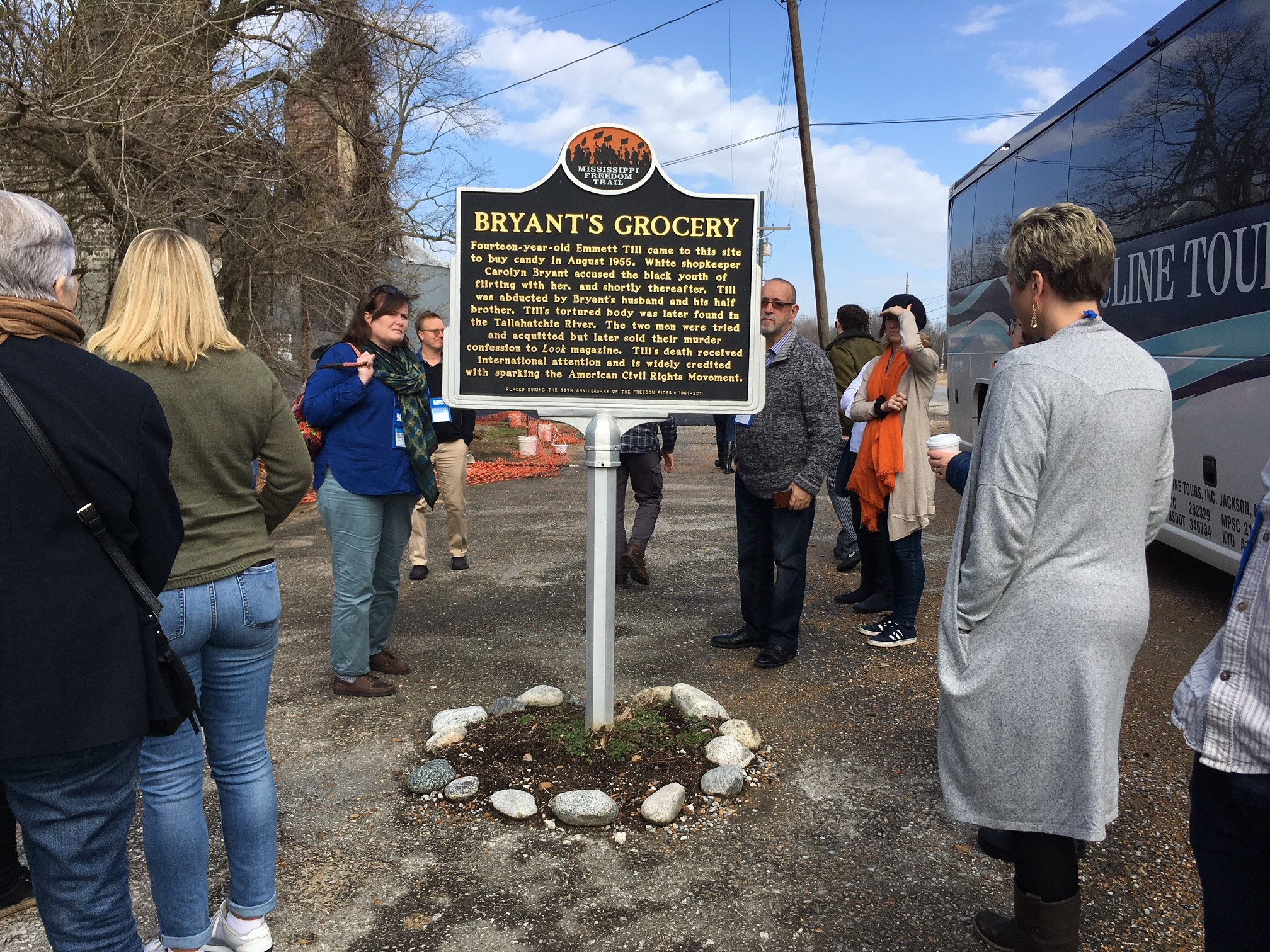 Booksellers toured historic Mississippi Delta sites on Monday.