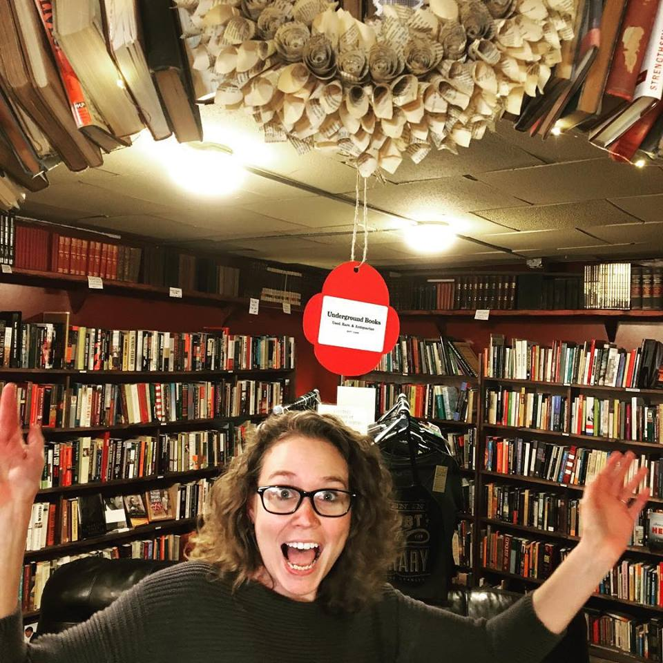 An Underground Books gift card substitutes for mistletoe.