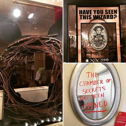 Harry Potter Party props and decorations.