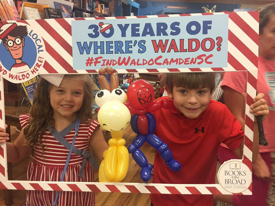An adorable Waldo photo op at Books on Broad