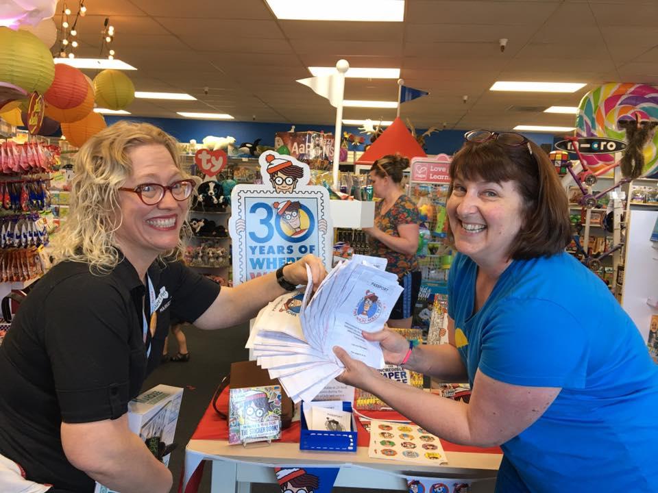 Lots of Waldo swag at MudPuddles Toys & Books in Sherwood, Oregon