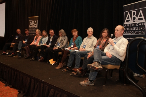 The ABA Board responded to questions and comments from booksellers at the Town Hall.