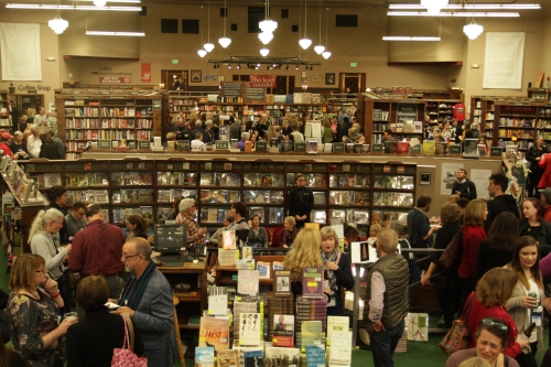 Hundreds of booksellers, authors, and publishers at the opening reception at Tattered Cover.