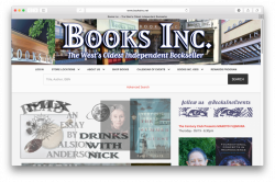 Home page of Books Inc. website