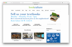 Home page of Book Culture website