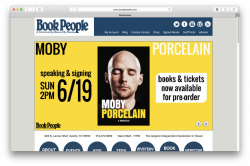 Home page of Book People website