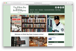 Home page of Elliott Bay Book Company website