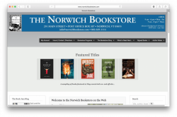 Home page of The Norwich Bookstore website