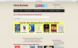 Home page of Liberty Bay Books web site